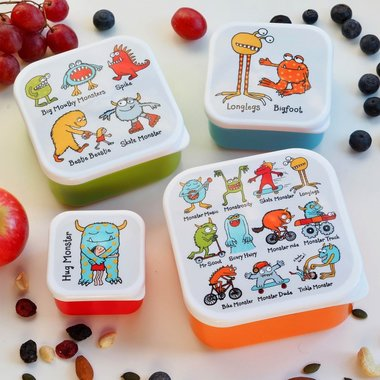Monsters set van 4 snackboxen / Tyrrell Katz