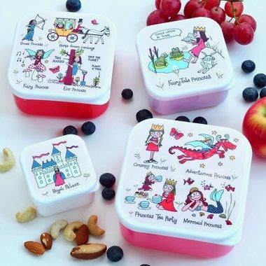 Prinses set van 4 snackboxen / Tyrrell Katz