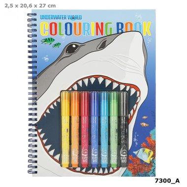 Kleurboek set UNDERWATER (met viltstiften) / Dino World