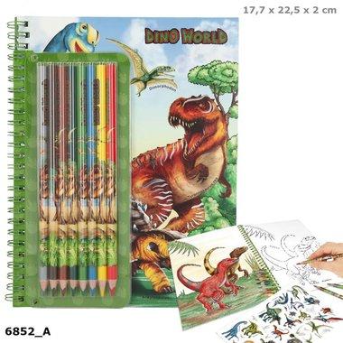 Kleurboek met kleurpotloden / Dino Word