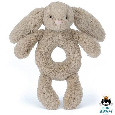 Rammelaar Konijn Bashful Beige Bunny Grabber / JellyCat