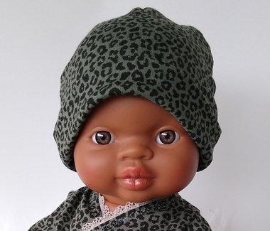 Beanie leopard green / KiaOra