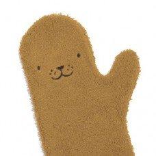 Washand Zeehond Karamel (bruin) / Baby Shower Glove