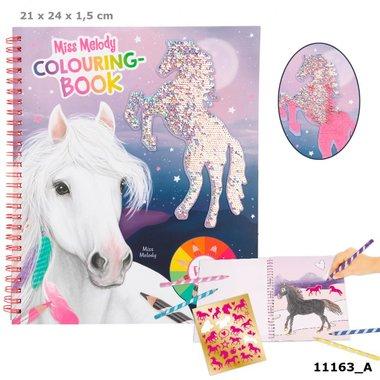Kleurboek met pailletten / Miss Melody