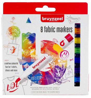 8 textielstiften fabric markers / Bruynzeel