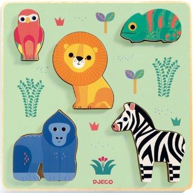 Houten puzzel relief coloré / Djeco