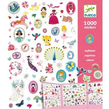 1000 Stickers voor meisjes Sweet / Djeco