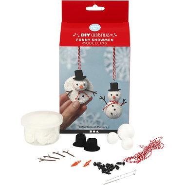 Foam Clay Themaset Grappige Sneeuwpoppen boetseren