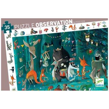 Observatie Puzzel Het orkest (35st.) / Djeco