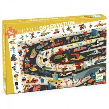 Observatie Puzzel Auto rally (54st.) / Djeco