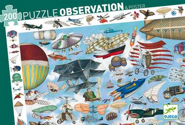 Observatie Puzzel Luchtvaart (200 st.) / Djeco