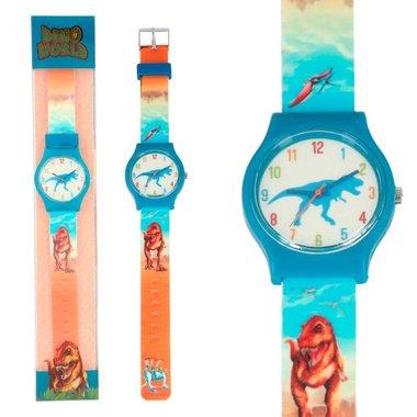Horloge Dino blauw / Dino World