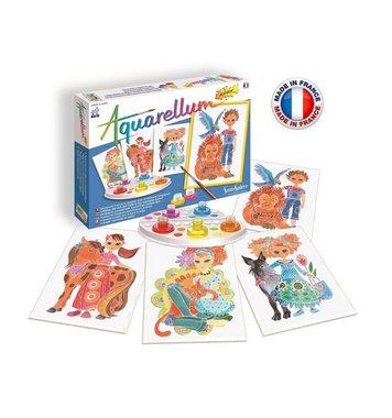 Schilderset aquarelverf junior Kinderen en dieren / Aquarellum