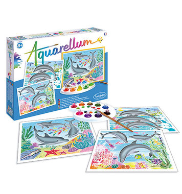 Schilderset aquarelverf Dolfijnen / Aquarellum