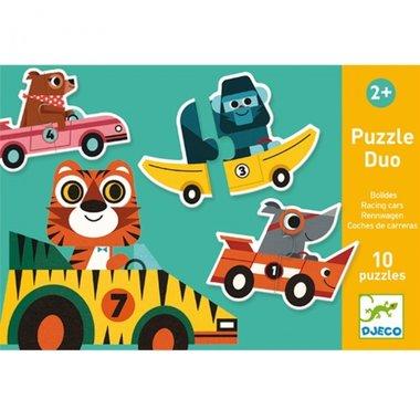 Duo puzzel Racewagens 2+ / Djeco