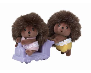 Tweeling Egel op speelgoedtreintje / Sylvanian Families