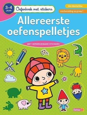 Oefenboek met stickers - Allereerste oefenspelletjes (3-4 j.) / Deltas