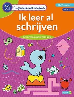 Oefenboek met stickers - Ik leer al schrijven (4-5 j.) / Deltas