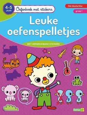 Oefenboek met stickers - Leuke oefenspelletjes (4-5 j.) / Deltas