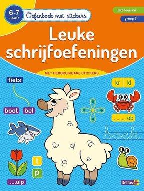 Oefenboek met stickers - Leuke schrijfoefeningen (6-7 j.) / Deltas