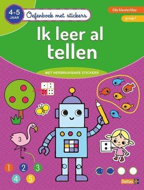 Oefenboek met stickers - Ik leer al tellen (4-5 j.) / Deltas