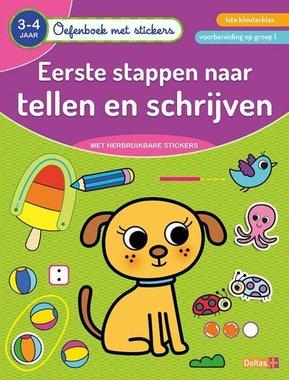 Oefenboek met stickers - Eerste stappen naar tellen en schrijven (3-4 j.) / Deltas