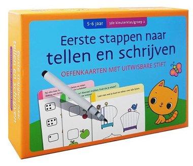 Oefenkaarten met uitwisbare stift - Oefenkaarten Tellen En Schrijven (5-6 jr.) / Deltas