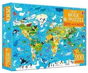 Boek met puzzel, dieren van de wereld (200st)  / Usborne