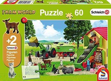Puzzel Hooitijd op de boerderij (60 st.) / Schleich-Schmidt
