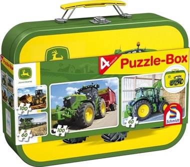 John Deere Puzzel-Box 4 in 1 (2x60 + 2x100 st.) / Schmidt