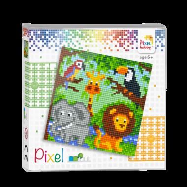 Pixel set Jungle Dierenrijk / Pixelhobby