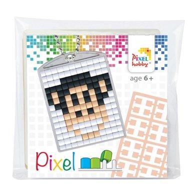 Pixel Medaillon sleutelhanger Aap / Pixelhobby