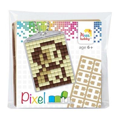 Pixel Medaillon sleutelhanger Hond / Pixelhobby
