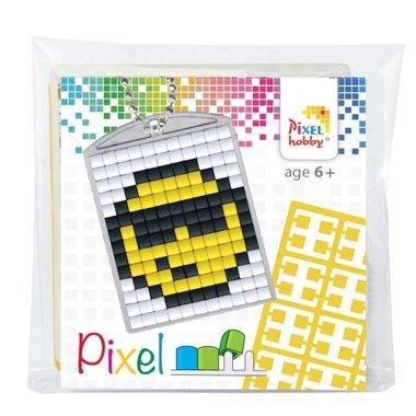 Pixel Medaillon sleutelhanger Smiley / Pixelhobby