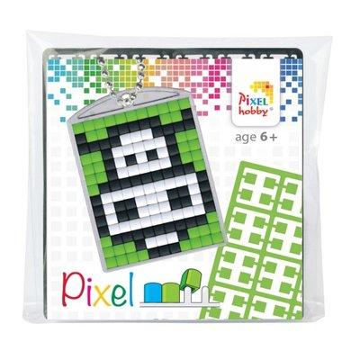 Pixel Medaillon sleutelhanger Koe / Pixelhobby