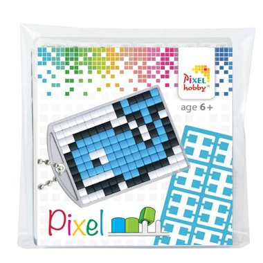 Pixel Medaillon sleutelhanger Walvis / Pixelhobby