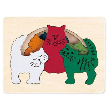 George Luck - Katten houten puzzel 3+ / Hape