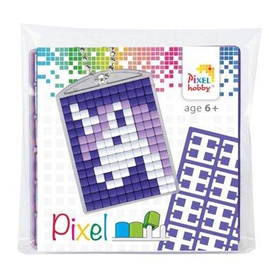 Pixel Medaillon sleutelhanger Eenhoorn / Pixelhobby