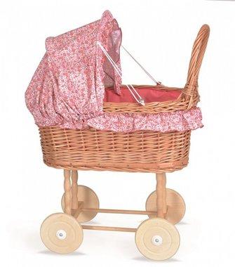 Poppenwagen riet bloementjes bekleding Julia / Egmont Toys