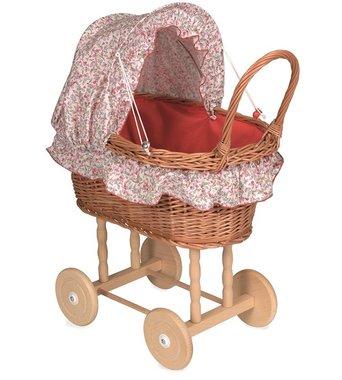 Poppenwagen riet bloementjes bekleding Olivia / Egmont Toys