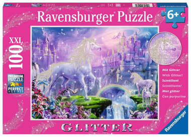 Koninkrijk van de eenhoorn glitter  puzzel (100 XXL) / Ravensburger