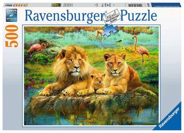 Leeuwen in de savanne puzzel (500 st) / Ravensburger