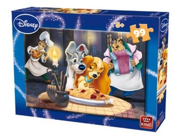 Lady en de Vagebond puzzel Disney (99st) / King