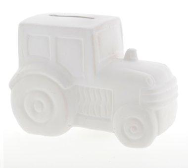 1. Knutselvoorwerp: Spaarpot keramiek Tractor