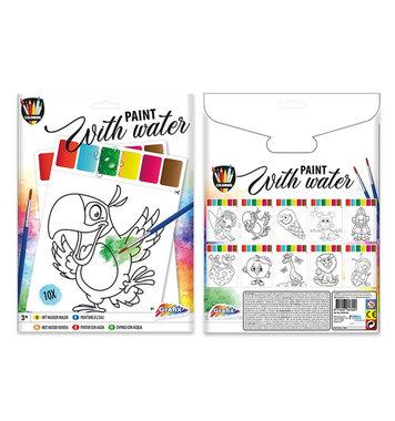 Waterverf kleurplatenset / Grafix