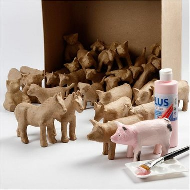 2. Knutselvoorwerp:  Papier-maché dier (voor op doosje)
