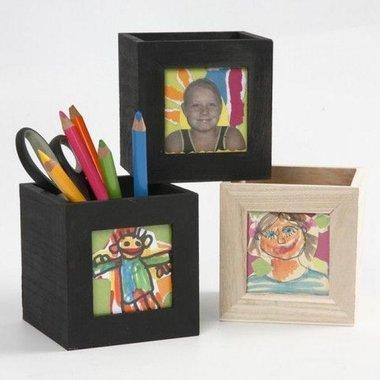 4. Knutselvoorwerp:  Houten pennenbak / Foam Clay