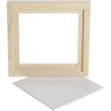 3. Knutselvoorwerp: Canvas met lijst  (20x20 cm)