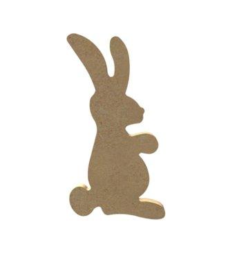 Houten knutselfiguur Konijn (klein) / Foam Clay (Gomille)
