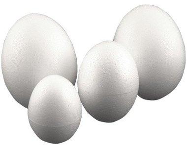 Piepschuim eieren 8 cm (3 stuks) / Foam Clay